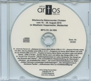 Bibelwoche Bekennender Christen in Vesperweiler 8/2016 (MP3-CD)-0