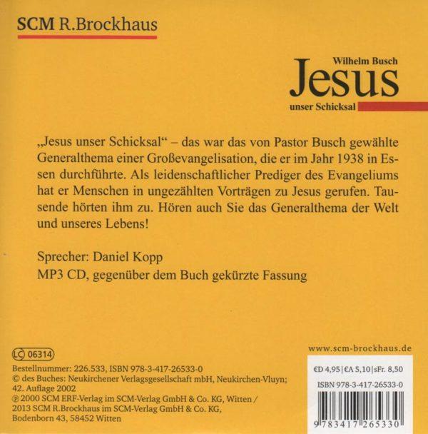Jesus unser Schicksal Hörbuch (Neuauflage)-682