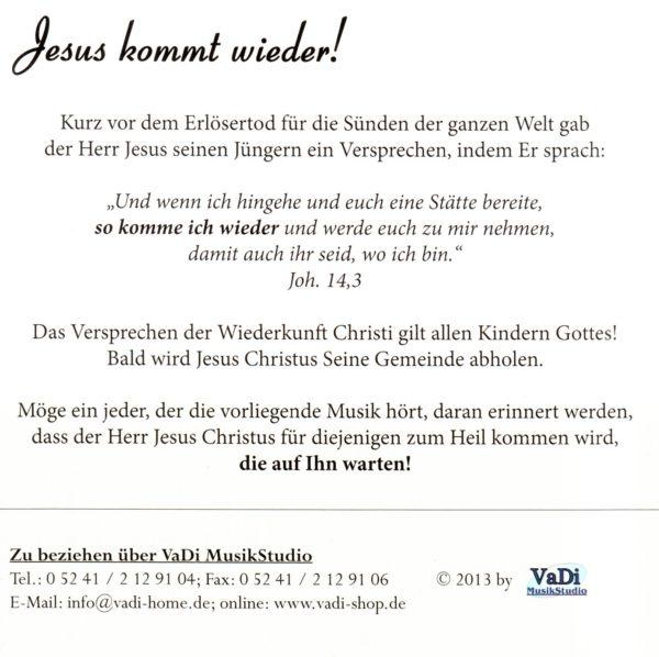 Jesus kommt wieder - Audio-CD-730