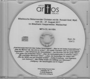 Bibelwoche Bekennender Christen in Vesperweiler 8/2017 - MP3-CD-0