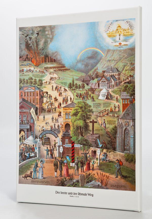 Der breite und der schmale Weg Poster 55x75 cm (inkl. Versandkosten!)
