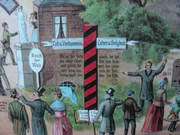 Der breite und der schmale Weg Poster 40x55 cm (inkl.Versandkosten!)-848