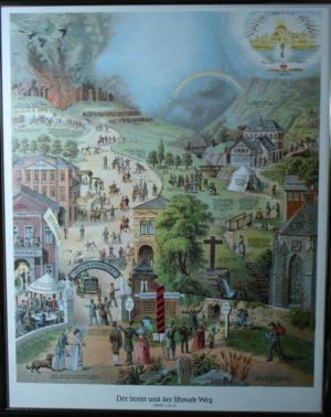Der breite und der schmale Weg Poster 55x75 cm (inkl.Versandkosten!)-0