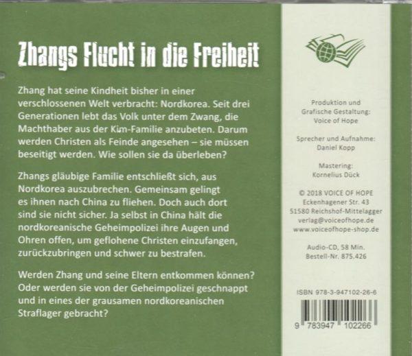 Zhangs Flucht in die Freiheit Hörbuch-852