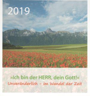 Ich bin der Herr, dein Gott! Tisch- und Wandkalender 2019-0