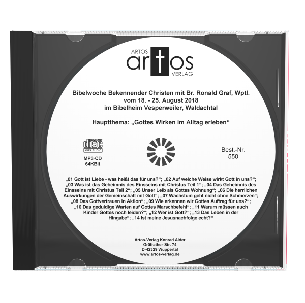 Bibelwoche Bekennender Christen Vesperweiler 8/2018 MP3-CD-0
