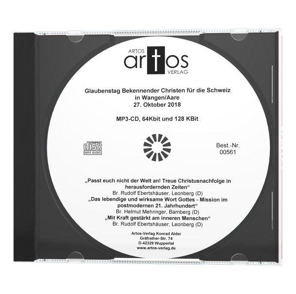 Glaubenstag Bekennender Christen in Wangen (CH) 10/18 - MP3-CD