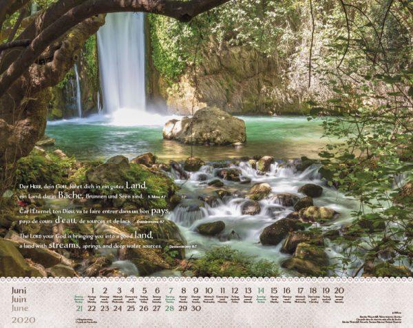 Israel Shalom 2020 Wandkalender