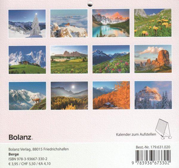 Berge 2020 Tischkalender