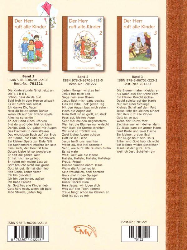 Der Herr ruft alle Kinder 1 Rückseite 600x804 - Der Herr ruft alle Kinder Liederbuch Bd. 1