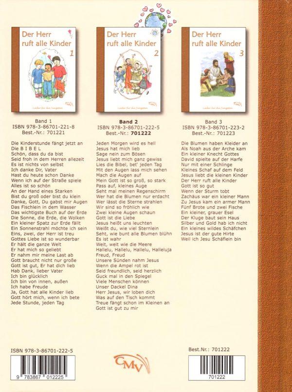 Der Herr ruft alle Kinder 2 Rückseite 600x804 - Der Herr ruft alle Kinder Liederbuch Bd. 2