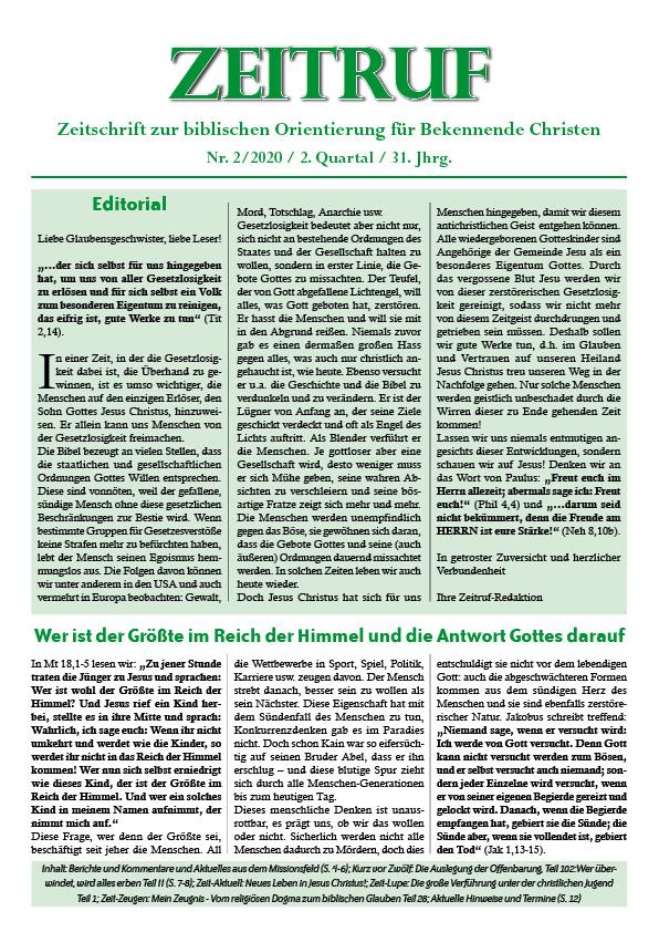 """Ztr220 - Vierteljahres-Zeitschrift """"Zeitruf"""":"""