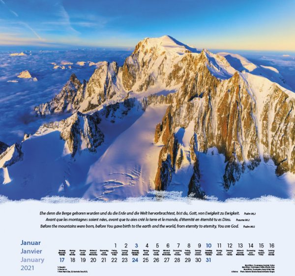 179601021 01 600x560 - Berge-Montagnes-Mountains 2021 Wandkalender
