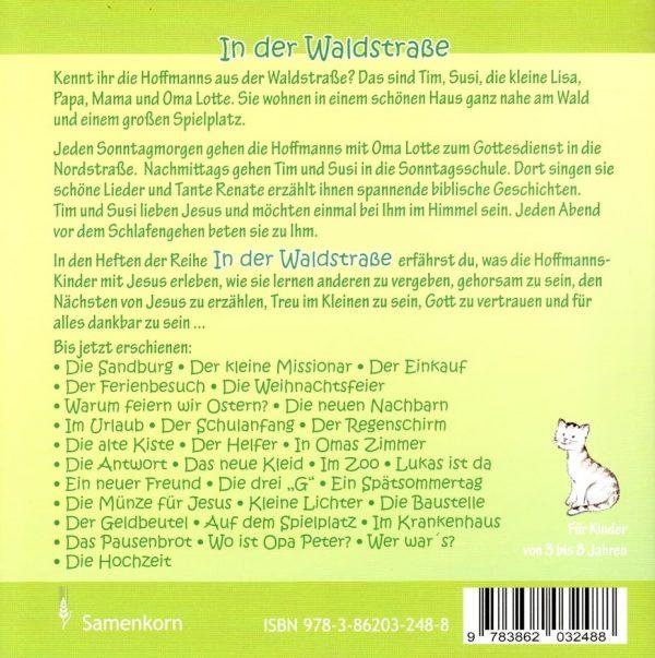 Der Gesangsabend Rueckseite 600x603 - Der Gesangsabend - In der Waldstraße