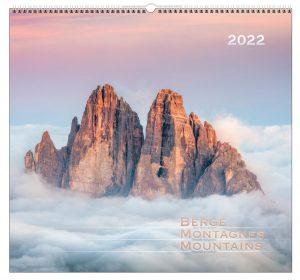Berge-Montagnes-Mountains 2022 Wandkalender