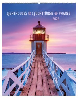 Leuchttürme 2022 dreisprachiger Wandkalender